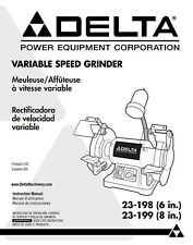 Delta 23-198 23-199 Variable Speed Grinder Instructions Manual