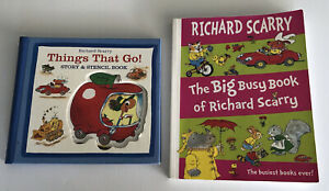 Richard Scarry - The Big Busy Book + Things That Go! Story & stencil book