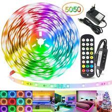 12V Dimmbar LED RGB Stripe Leiste Streifen 5050 Band Leuchte Lichterkette 10-20m