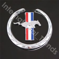 Running Horse Emblem Chrome Metal Side Fender Badge Stickers for Ford Mustang