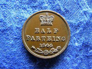 UK 1/2 FARTHING 1844, KM738