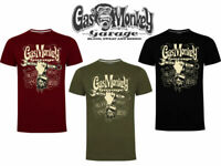 Gas Monkey Garage T-Shirt Official GMG Spanner Printed Logo Graphic Printed Tee