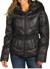The North Face Collar Back Down Hooded Jacket Womens M TNF Black New w Tags $280