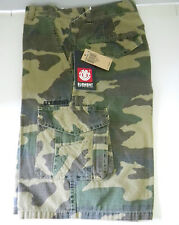 Element Boys Camoflauge Print Cargo Shorts Size 28 multi pocket bts NEW NWT