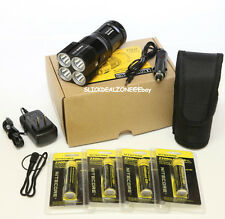 NEW NITECORE TM26 4000 Lumen Flashlight W/4*2300 mah Batteries and Car charger