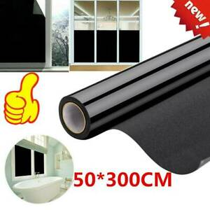 Blackout Static Cling Window Film UV Protect for Privacy To Block Sun 20*118 QT