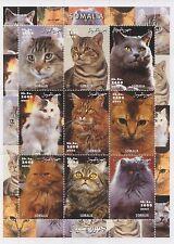 CATS FELINE HOUSE PET ANIMAL KINGDOM SOMALIA 2002 MNH STAMP SHEETLET