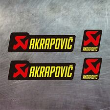 4X VINILO ADHESIVO PEGATINA STICKER AKRAPOVIC MOTO TUNING RACING RALLY DECAL