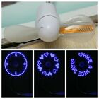 Mini Flexible Gooseneck LED Clock USB Fan For PC Notebook Time Display Cool NEW