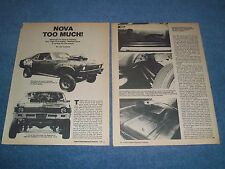 "1962 Chevy II Nova SS Vintage Street Freak Article ""Nova Too Much!"""
