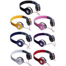 Foldable Over-Ear 3.5mm Headset Headphone fr iPhone Samsung Laptop Tablet PC MP3