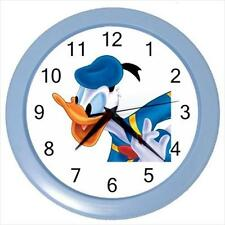 "Navy Donald Duck 10"" Round Sky Blue Frame Home Wall Clock New"