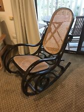 Rocking chair with wicker insert