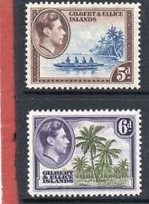 Gilbert & Ellice GV1,1939 5d-6d sg 49-50 H.Mint