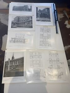 1908 American Architect Normal And Latin School Group Boston X 8 Plates