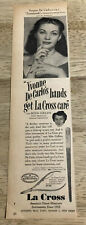 YVONNE DeCARLO La Cross  / MUM Deodorant - Vtg 1951 Magazine Ads 2-sided