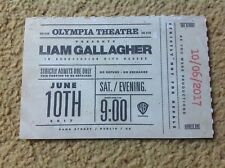 Liam Gallagher REPLICA TICKET 1 OLYMPIA THEATRE DUBLIN 10th JUNE 2017 FREE POST