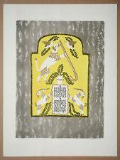 """Anatoli Kaplan - Farblithographie """"tschetwerti schisab"""" - 1958"""