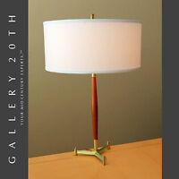 MID CENTURY MODERN 'ROCKET' TRIPOD LAUREL LAMP! VTG STIFFEL ATOMIC THURSTON 50'S