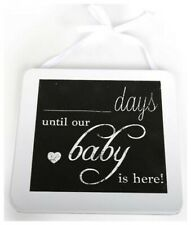 New Baby Pregnancy Announcement Baby Shower Gift - Countdown Chalkboard Plaque