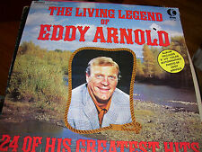 THE LIVING LEGEND OF EDDY ARNOLD-24 OF HIS GREATEST HITS-LP-NM-K-TEL-NO PHOTO