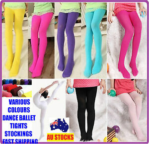 KIDS GIRL DANCE BALLET TIGHT TIGHTS STOCKING STOCKINGS LEG OPAQUE 80 SIZE S,M,L