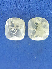 0.44TCW Intense Green color Oval Rose cut African Natural Loose Diamond pair