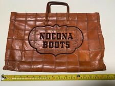 NOCONA BOOTS - Stitched Logo Tan Brown Leather Tote Bag  Used