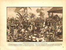 Peuples Indigènes de l'Empire Colonial Français Madagascar MAP CARTE ATLAS 1937