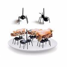 12 unids / set Ant Fruit Fork Eco Friendly Plastic Kitchen Bar Niños Postre Fork
