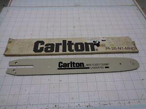 """Carlton 14-26-N1-MHC Chainsaw Guide Bar 14"""" Mini Hobby Champ Sprocket Tip"""