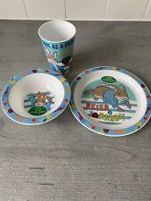 Peter Rabbit PP Kids Tableware Set - Plate, Bowl & Tumbler - New