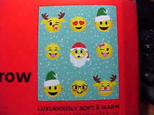 Emoji Expressions Christmas Blanket Christmas Emoji Plush Throw 50in X 60in