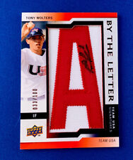 2009 Tony Wolters By The Letter Team USA Signatures #33/100. BTLU-TW
