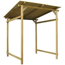Wood Garden Shelter Canopy Outdoor Wooden Shed Bike Tools Logs Firewood Storage
