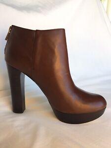 Michael Kors Brown High-Heel Ankle Boots