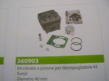 CILINDRO E PISTONE PER DECESPUGLIATORE 43 EURO2 TIPO CINESE  DIAMETRO 40MM