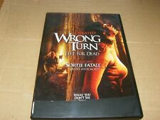 Wrong Turn 3 Left For Dead Unrated DVD,2009,Used.