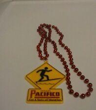 Pacifico cerveza marti gras beaded necklace