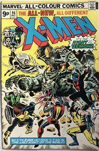 Marvel X-Men #96 1st Appearance Moira MacTaggert (1975) UK Pence Variant