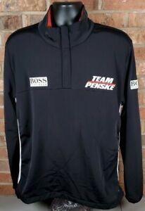 Hugo Boss Team Penske Racing Green Label Pullover 1/4 Zip Pullover Jacket Sz XL