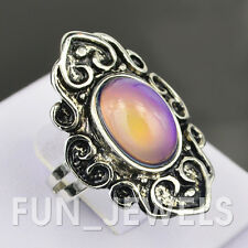 New Baroque Style Vintage Mood Ring Multi Colored Change Retro Free Color Chart