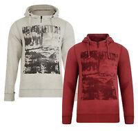 Garcia Jeans New Men's Full Zip Hooded Top Fleece Sweatshirt Hoodie Red & Grey
