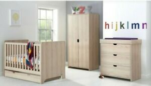 Mamas and Papas Full Nursery Furniture Set, Rocco - Cot bed, wardrobe & drawers.