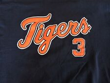 Detroit Tigers #3 Kinsler Baseball T-Shirt Mens Size XL Navy Blue Genuine
