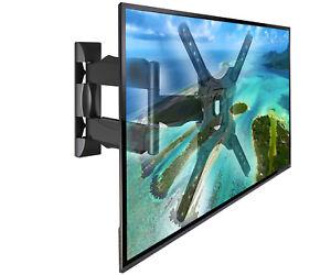 """LCD LED TV Wandhalterung 32-55"""" Fernseher bis VESA 400 Neigbar Schwenkbar NB P4"""
