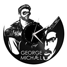 George Michael Vinyl Wall Clock Music Bands Musicians Themed Vintage Room Decor