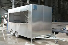 3.5M Stainless Steel Concession Stand Trailer Kitchen Fryerssteamer ramen cooker