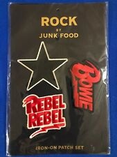 Rock by Junk Food David Bowie Iron On Patches Set of 3 Patches Bowie Rebel Rebel