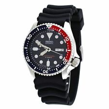 New Seiko SKX009J1 Japanese Automatic Black Rubber Diver's Watch Sport Watch